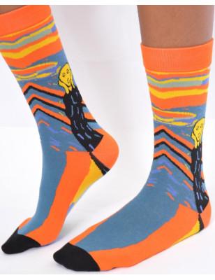 chaussettes fantaisie impressionniste le cri de munch