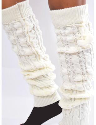 Guêtres hiver laine àPompom...