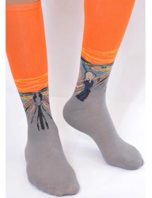Chaussettes selon le tableaux de Munch le cri