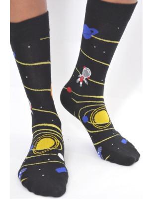 Chaussettes Fantaisie orbite et satelitte