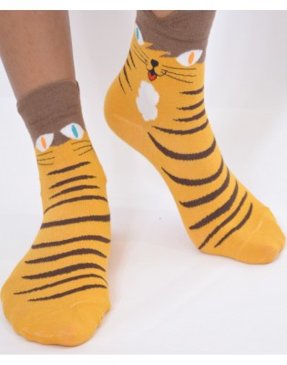 Chaussettes chats tigre