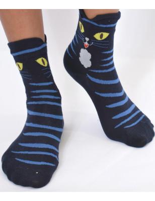 Chaussettes chat de la nuit