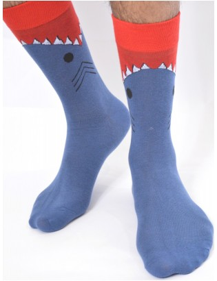 chaussettes homme rigolotes requins