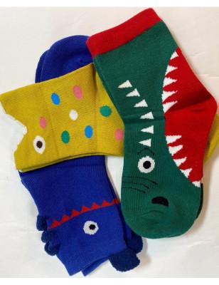 3 paires de chaussettes ludiques monstres rigolos