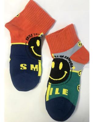 Chaussettes asymétriques smiles rigolos