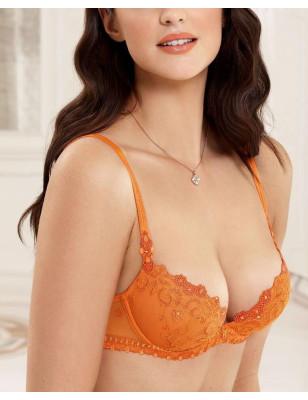 Soutien gorge Balconnet Princesse gothique orange