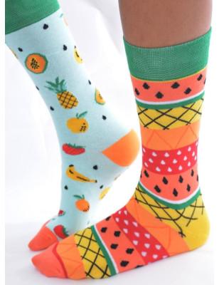 chaussettes asymétriques salades de fruits