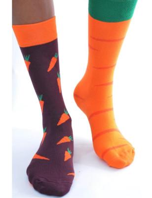 chaussettes carottes et potager asymétrique