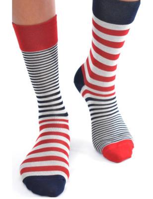 chaussettes originales asymétrique fil d'ecosse Berthe aux grands Pieds