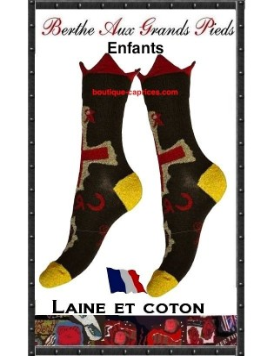 Chaussettes Croix rouge Berhe aux grands pieds enfants