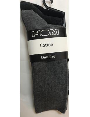 3 paires de chaussettes coton homme Assorties gris et antracithe