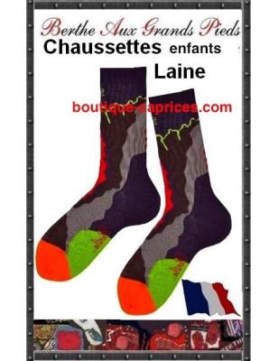 chaussettes Berthe Orchidées Enfants