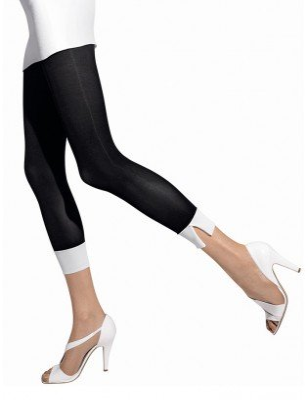 Collant girardi sans pieds capri noir blanc