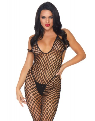 Bodystocking maille ronde sexy Sans pieds