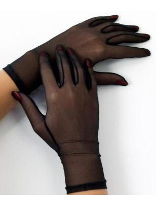Gant en tulle noir Cervin