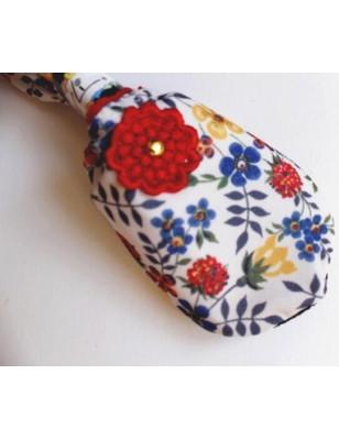 Chausson de polaire Ixli Rigolo à fleurs de paradis