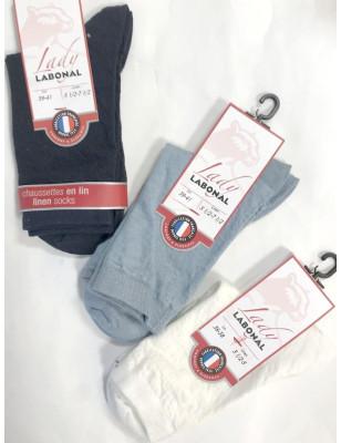 chaussettes en lin labonal
