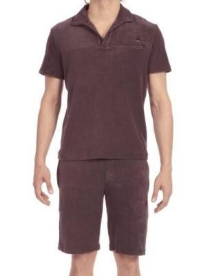 Pyjama en velours frappé gris