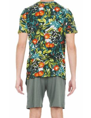 Pyjama court Coton Hom Tangerine