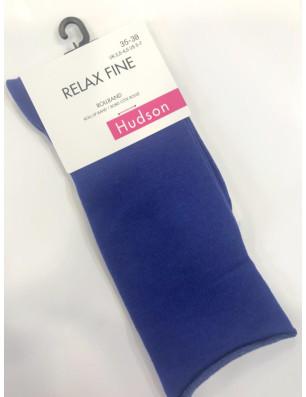 Chaussettes coton velvet Relax fin Hudson bleue