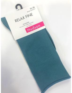 Chaussettes coton velvet Relax fin Hudson turquoise