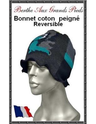 Bonnet Berthe Camo Bleu
