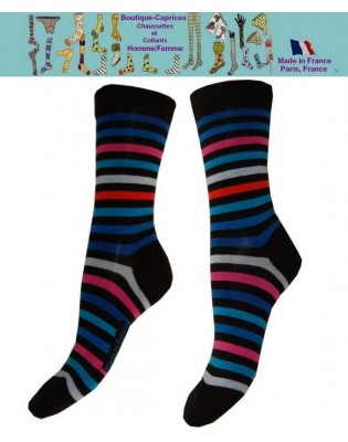 Chaussettes Rayures Bleues Rykiel Les petits Caprices
