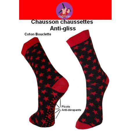 Chaussns chaussettes les ptits caprices étoiles rouges
