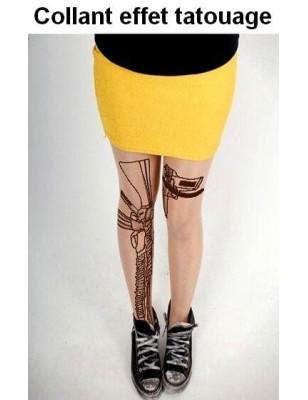 Collant Tattouage Mitraillette et Beretta