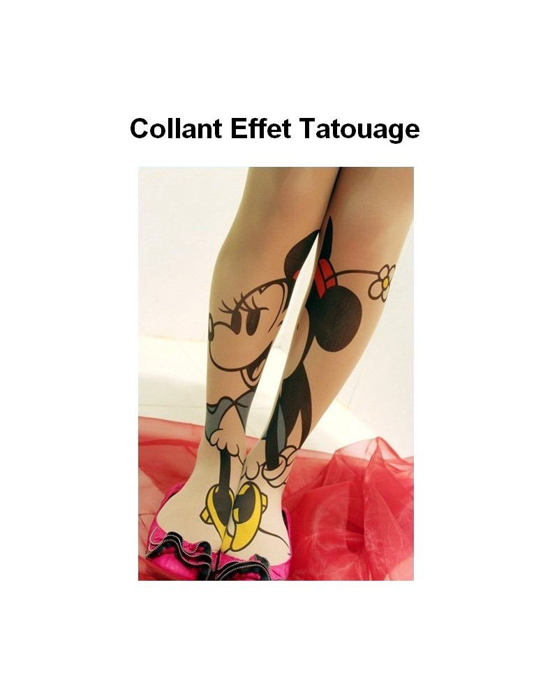cheap buy entire collection Collant Tattoo Minnie Souris