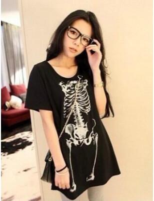 T-Shirt Halloween Squelette