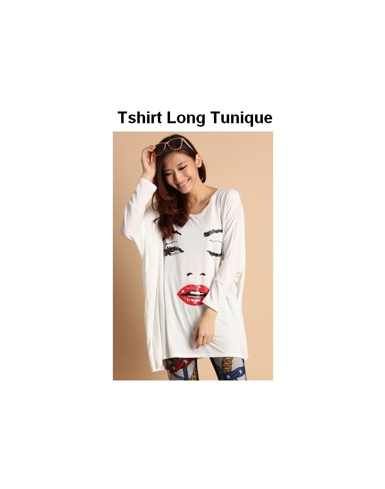 T-shirt tunique clin d'oeil Blanc