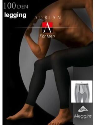 Legging Homme Noir Opaque