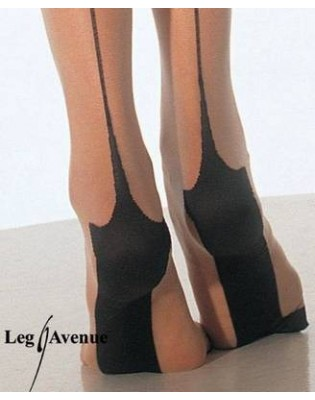 Collant Tentation Couture retro Leg Avenue
