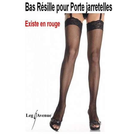 Bas resille rouge Queen size