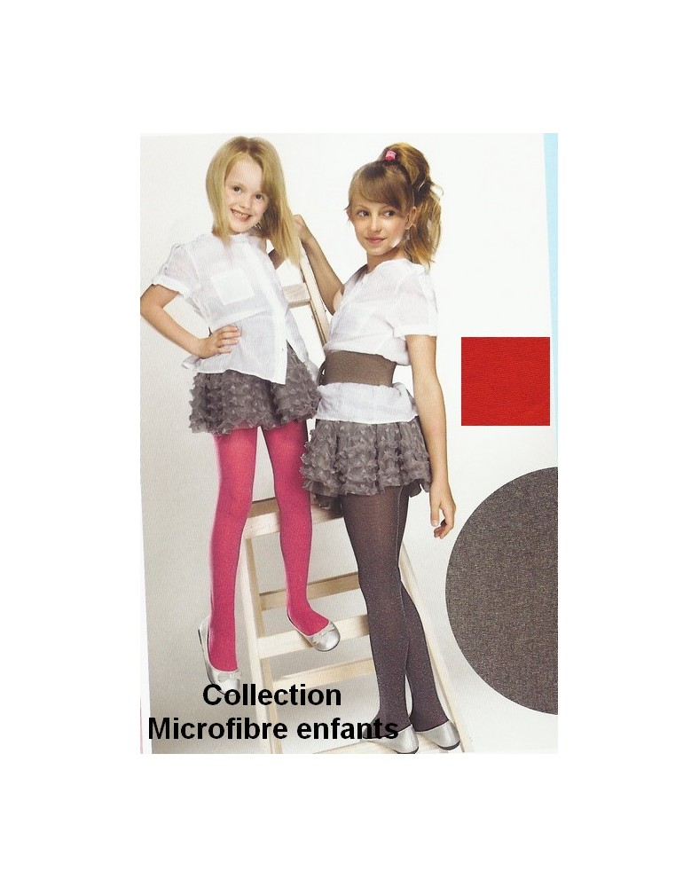 Collant Enfant Microfibre Tendance Ggris Rose
