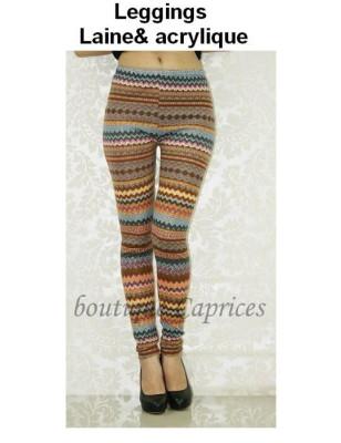 Leggings laine acryl boubou d'afrique