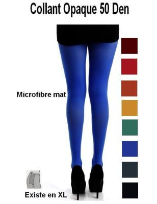 collant microfibre opaque de couleurs  unies