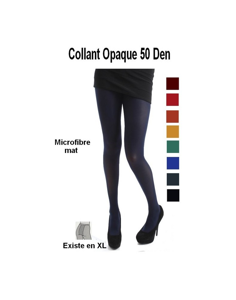 collant microfibre opaque de couleurs  unies