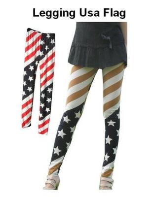 Legging USA flag beige