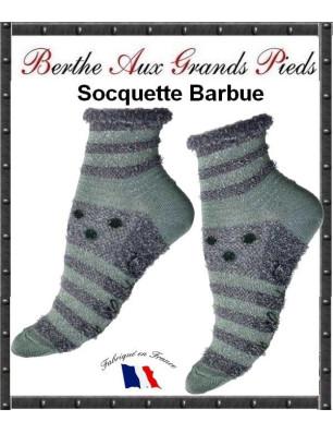 Chaussettes Berthe Aux Grands Pieds Pois Barbues