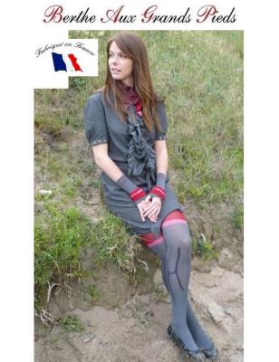 Echarpe  fil d'ecosse holala rouge Berthes aux grands pieds