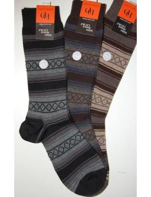 Chaussettes En laine Angora Homme losanges et rayures