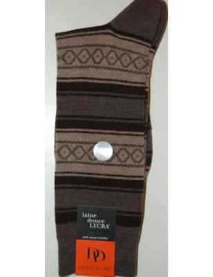 Chaussettes En laine Angora Homme losanges et rayures assortiment