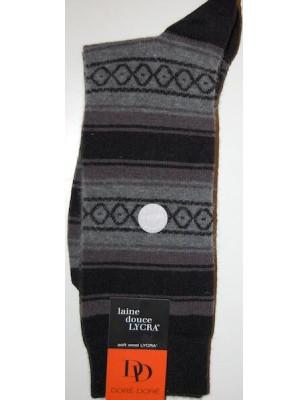Chaussettes En laine Angora Homme losanges noires
