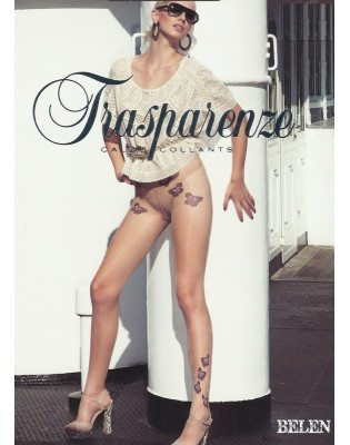 Collant Trasparenze Tattoo papillons