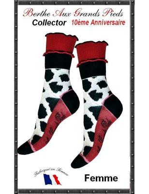 Chaussettes Berthe aux grands pieds Fem Collector Vache