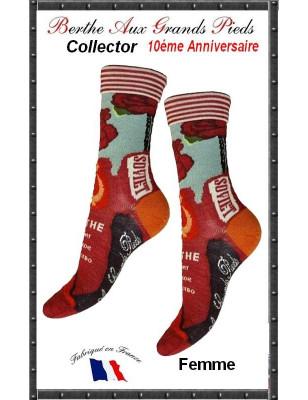 Chaussettes Berthe aux grands pieds Femme collector Soviet