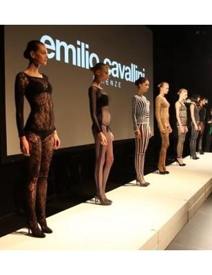 Collant Emilio Cavallini rayures verticales et rectangles