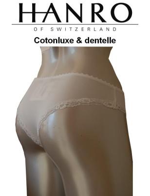 Hanro Tanga Coton et dentelle luxe